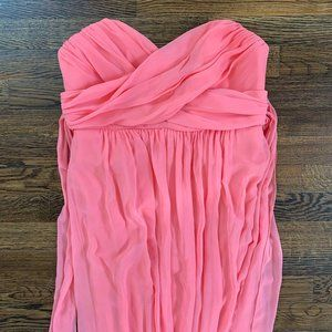Dessy 2846 Full Length Strapless Chiffon Dress